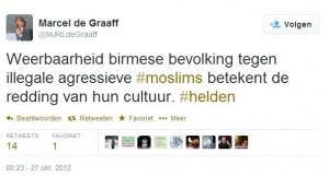 2012-10-27 juichen over uitroeien Moslims in Myanmar - PVV