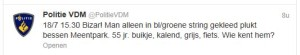 2013-07-19 Politie VDM string tweet 1