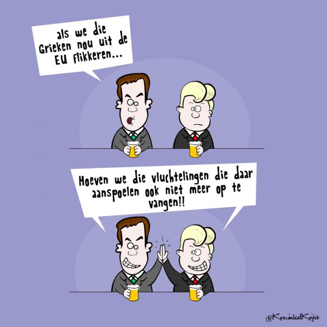 Grexit Cartoon KrewinkelKrijst