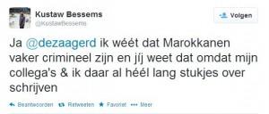 Kustaw Bessems Marokkanentweet