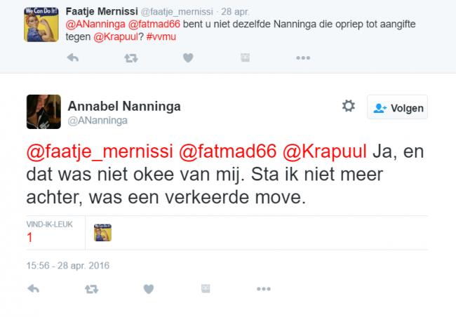Screenshot Nanninga staat niet meer achter TPO kruistocht b