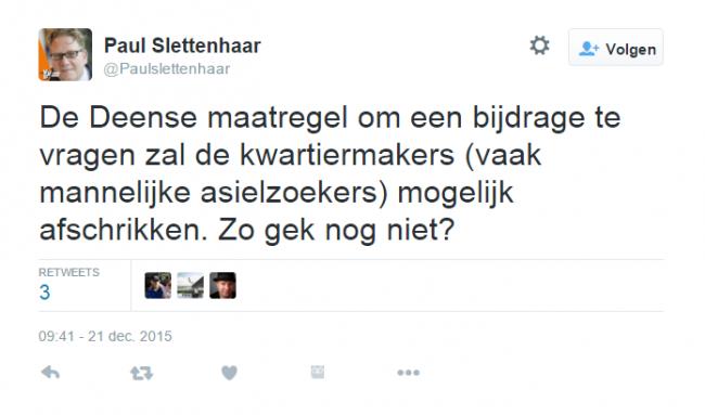Screenshot tweet slettenhaar