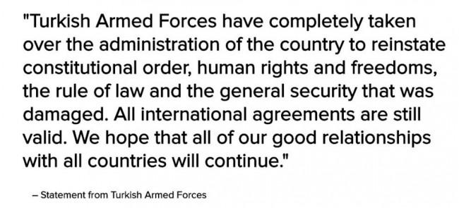 verklaring leger turkije