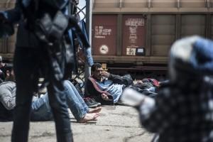vluchtelingen station macedonië